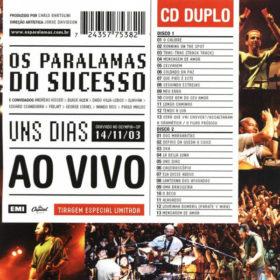 Os Paralamas do Sucesso – Uns Dias Ao Vivo (2004)